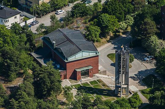 Råsunda kyrka från luften