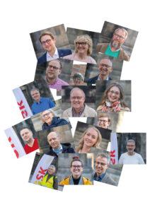Foto på några av POSK-kandidaterna i valet för Lunds pastorat