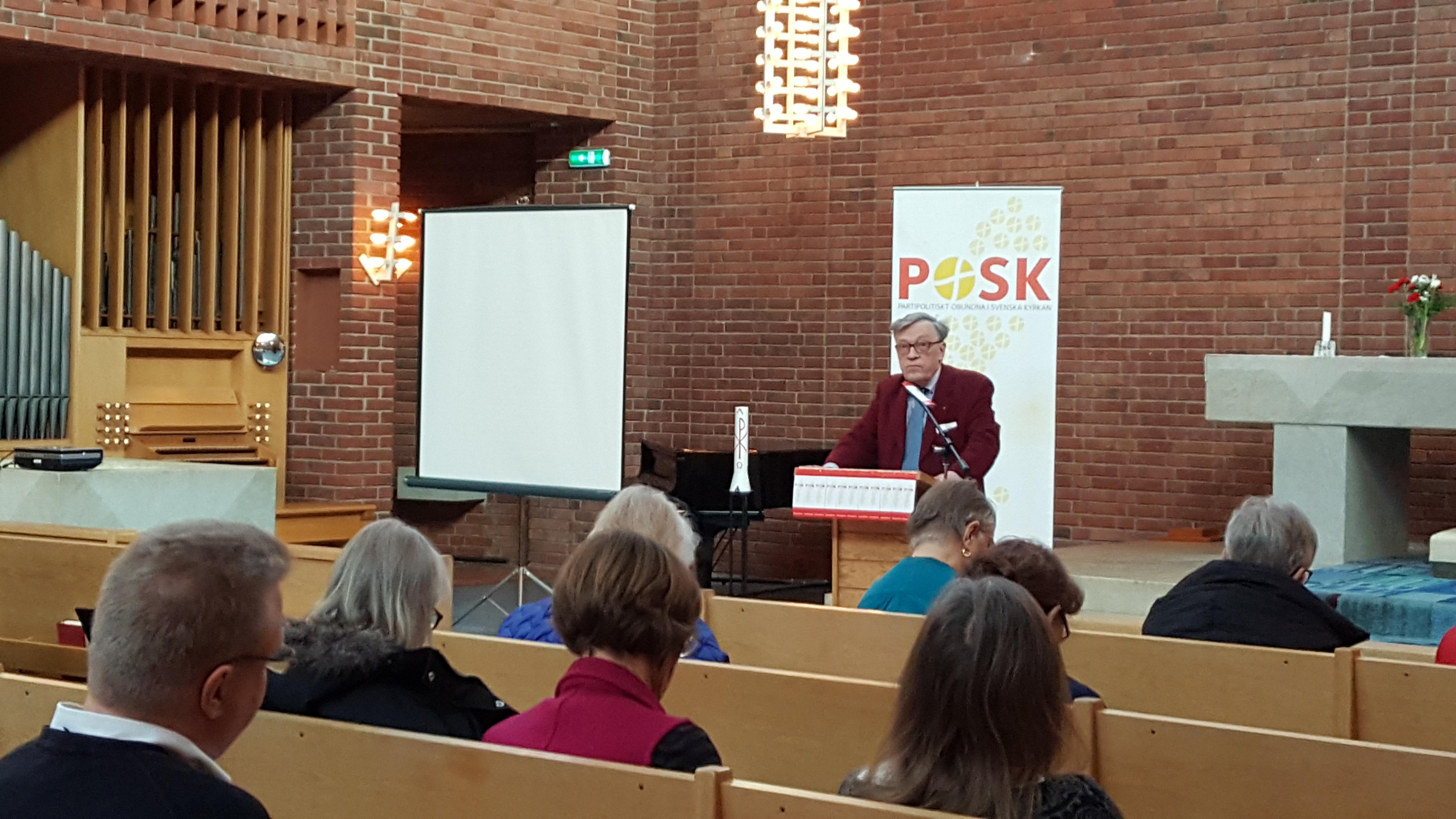 Oloph Bexell föreläser i Råsunda kyrka